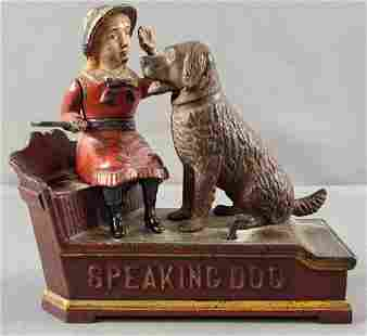 Speaking Dog cast iron mechanical bank