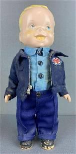 Lion Uniform advertising doll-Standard Oil of Ohio
