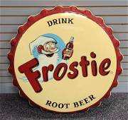 Frostie Root Beer advertising sign