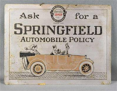 Springfield Automobile Policy sign
