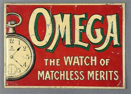 Omega Watch advertising sign