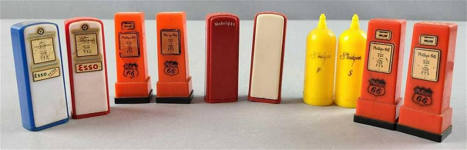 Advertising gas pump salt and pepper shakers