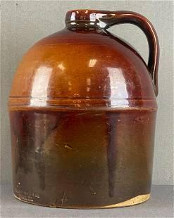 Peoria Pottery Stoneware Whiskey Jug