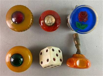 Group of 6 Vintage Automobile Suicide Knobs