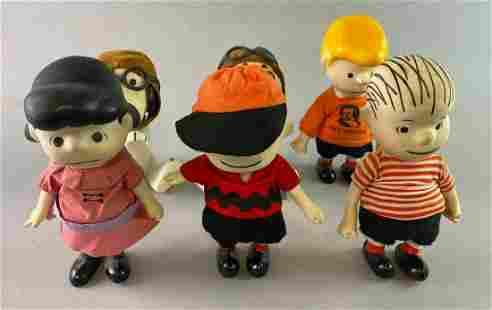 Group of 6 Peanuts Pocket Dolls