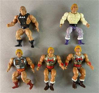 Group of 5 Masters of the Universe He Man Action
