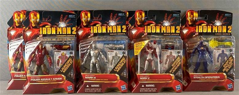 Group of 12 Hasbro Marvel Iron Man 2 Action Figures