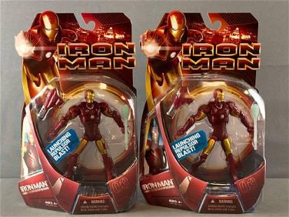 Group of 2 Hasbro Marvel Iron Man action figures