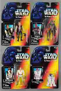 Group of 4 Star Wars action figures in original