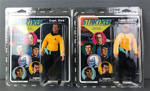2 Star Trek Captain Kirk Action Figures