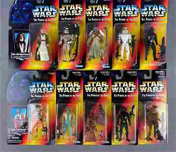 Group of 10 Kenner Star Wars The Power of the Force