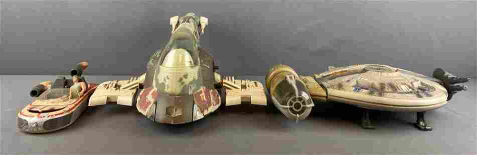Group of 3 Star Wars vehicles