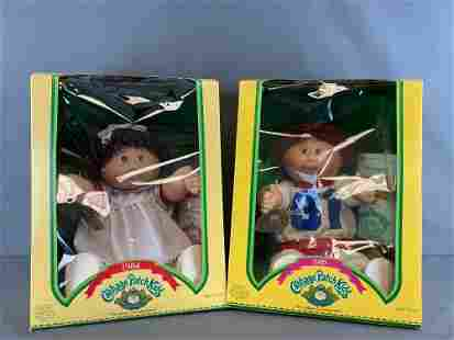Group of 2 Coleco Cabbage Patch Kids dolls
