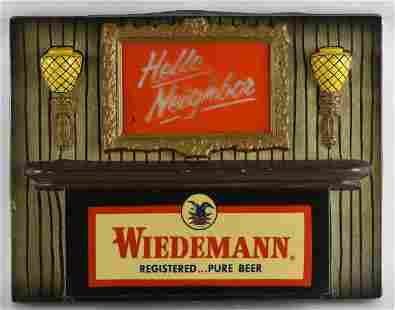 Vintage Wiedemann Light Up Advertising Beer Sign