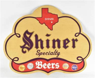 Shiners Beer Double Sided Advertising Wood Beer Sign
