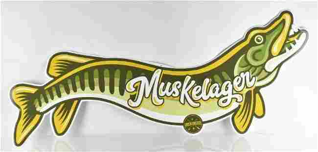 Pecatonica Muskelager Advertising Metal Beer Sign