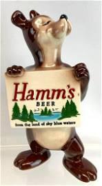 Vintage Hamms Beer Advertising Porcelain Bear Statue