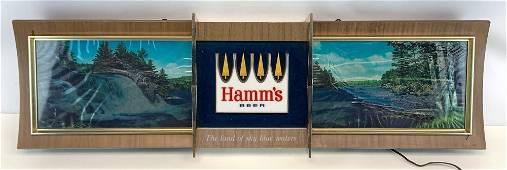 1965 Hamms Anniversary Rippler Light Up Advertising