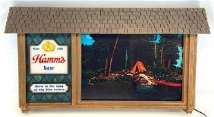 Vintage Hamms Beer Scene-A-Rama Advertising Motion Sign