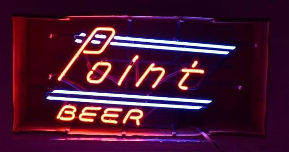 Point Beer Light Up Advertising Neon Beer Sign