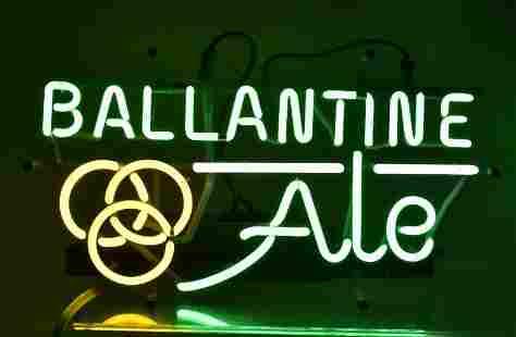 Ballantine Ale Light Up Advertising Neon Beer Sign