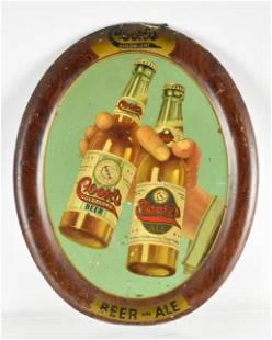Vintage Cooks Goldblume Beer Advertising Metal Beer