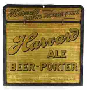 Vintage Harvard Ale Advertising Metal Beer Sign