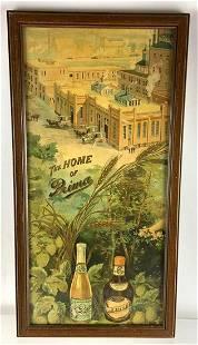 Vintage Prima Advertising Brewery Beer Sign