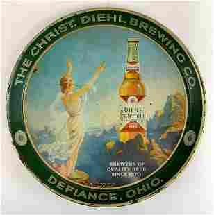 Vintage Diehl Centennial Advertising Metal Beer Tray