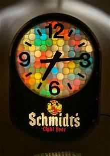 Schmidts Light Beer Light Up Advertising Motion Clock