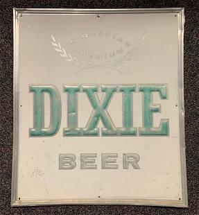 Dixie Beer Advertising Metal Beer Sign