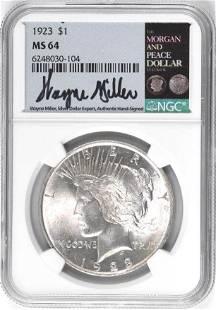 1923 P Peace Silver Dollar (NGC) MS64