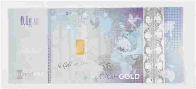Karatpay 2016 0.1 Gram .9999 Fine Gold in Certificate