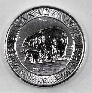 2015 Canada $8 Silver Polar Bear 1.5oz. .9999 Fine