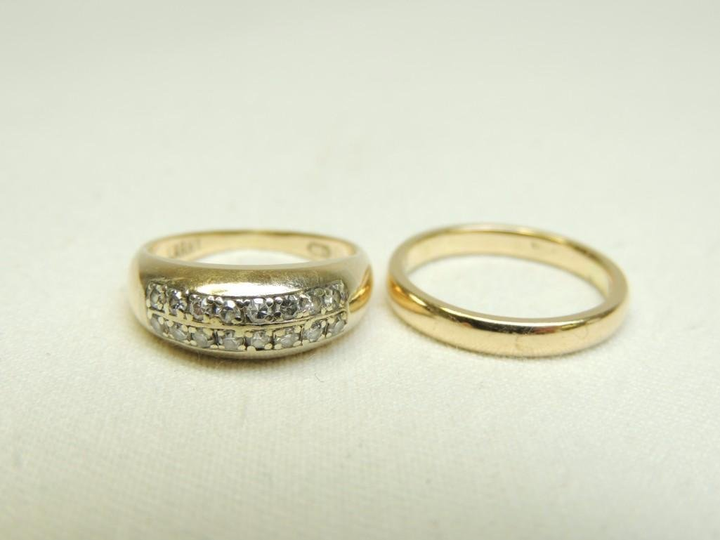 14K Gold Rings Group of 2