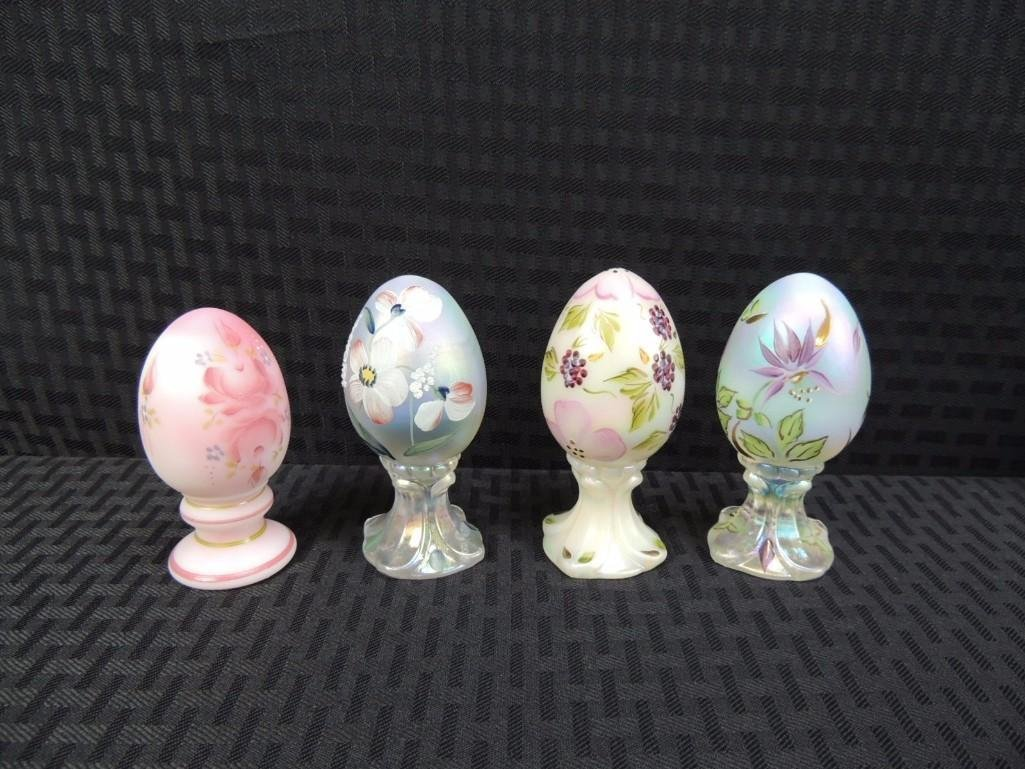 Fenton Signed Hand Painted Limited Edition Eggs Group o