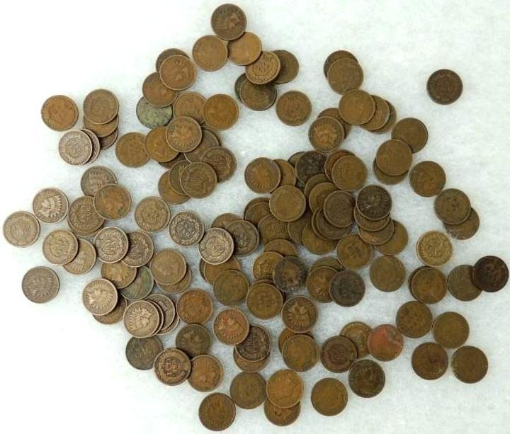 Group of 137 Indian Head Pennies