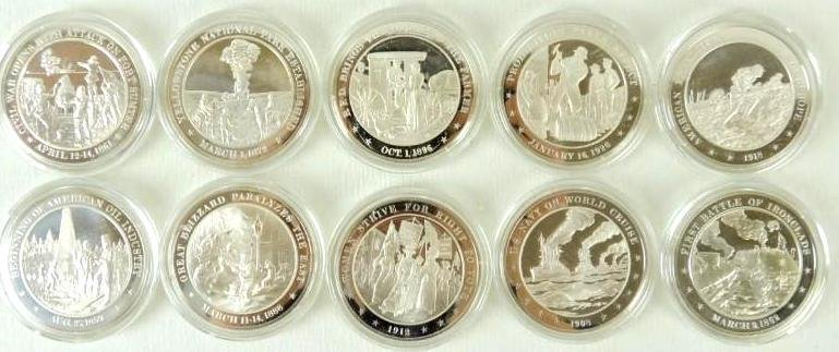 "Group of 10 Franklin Mint "" History of the U.S."""
