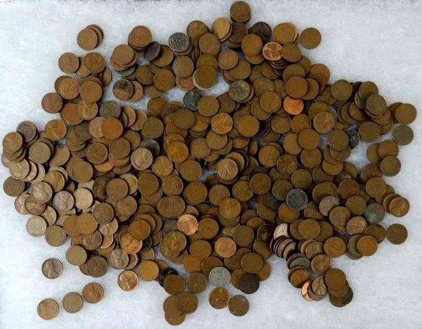 Approximately 300-400 Wheat Pennies