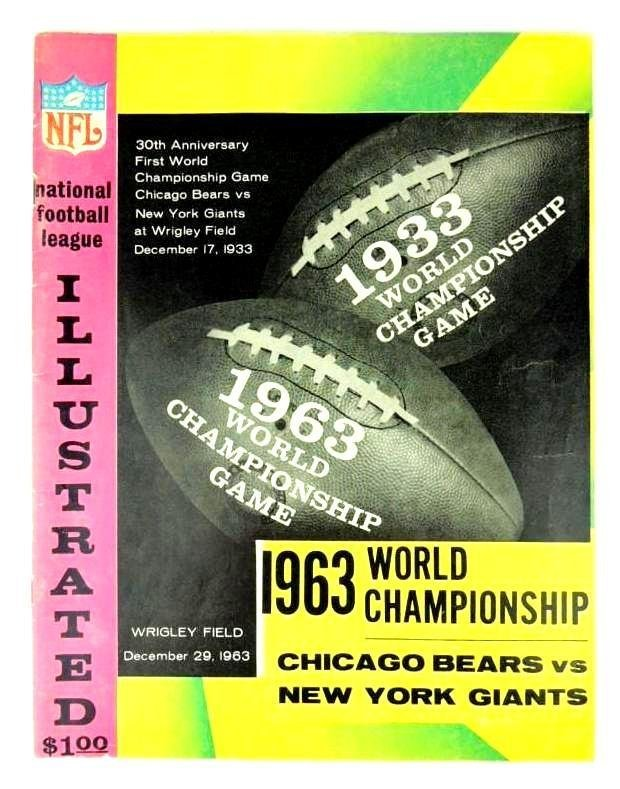 1963 Championship Autographed Program and Ticket Stub,