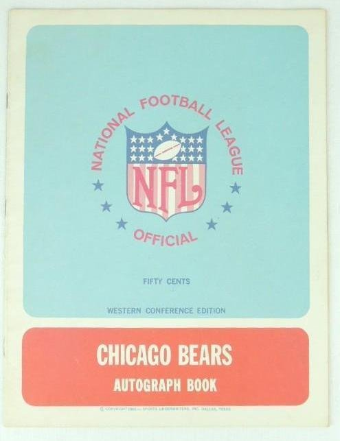 1967 NFL Official Western Conference Chicago Bears