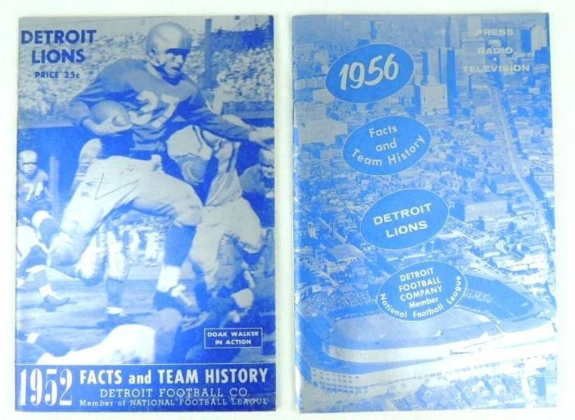 1952 and 1956 Detroit Lions Facts and Team History Book