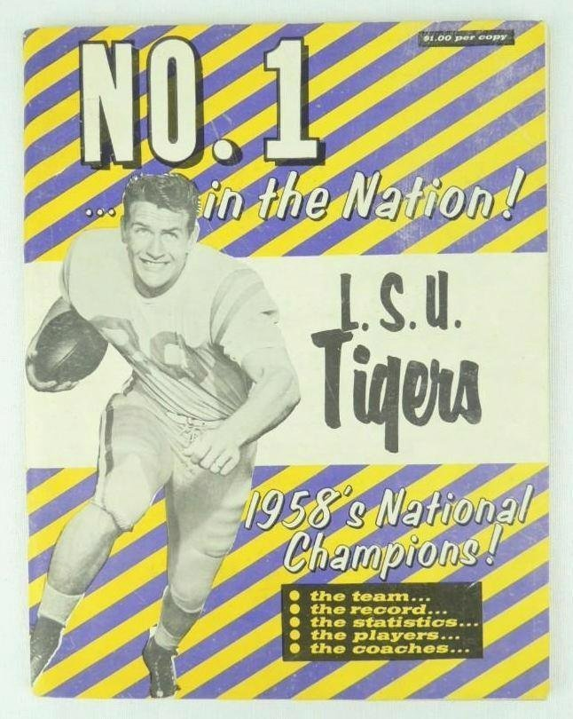 1958 L.S.U. Tigers Championship Year Book