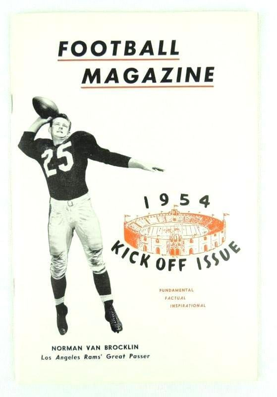 1954 Kick Off Issue of Football Magazine Featuring