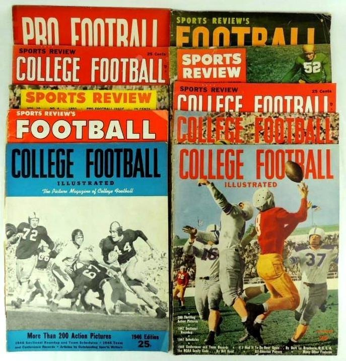Group of 10 Pro and College Football Magazines, Sports