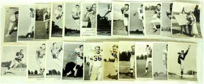 Group of 22 NFL NCAA Signed Press Photos Featuring Leon