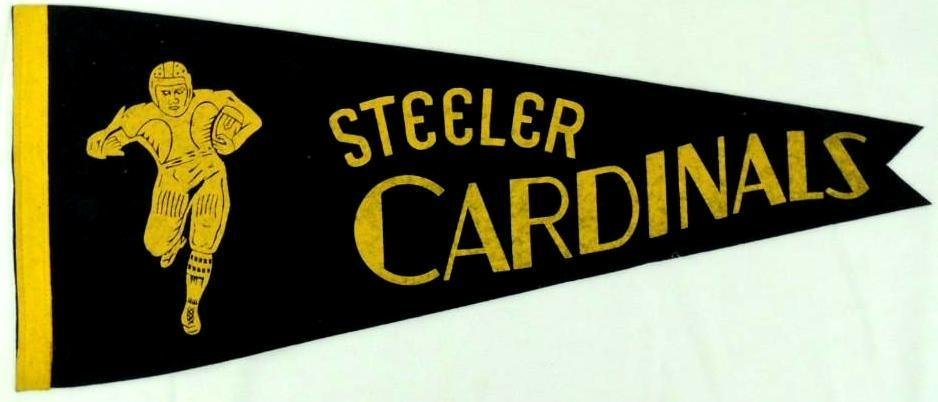 1944 Steelers Cardinals Pennant