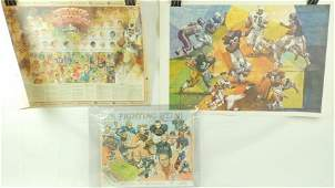 Group of 3 NFL Hall of Fame and Fighting Illini Posters