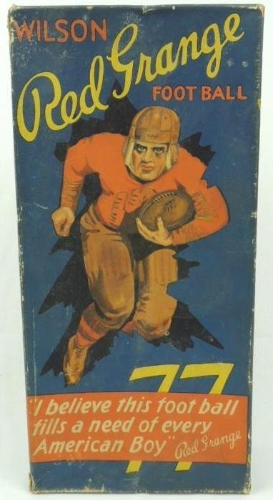 1920's Wilson's Red Grange Football Box