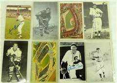 Group of 14 Chicago Sports Players Signed Postcards